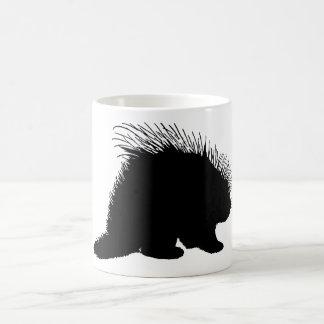 Porcupine silhouette coffee mug
