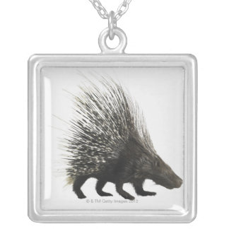 Porcupine Silver Plated Necklace