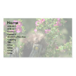 Porcupine-youngster in wild rose business card template
