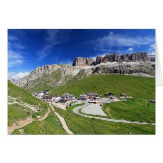 Pordoi pass and mountain card