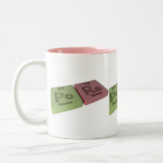 Pore as Po Polonium and Re  Rhenium Two-Tone Coffee Mug
