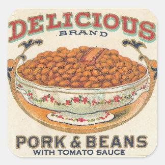 Pork and Beans Square Sticker