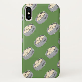 Pork Bun dim sum Chinese breakfast steamed bbq bun iPhone X Case