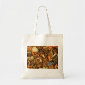 pork carrots potatoes oven baked food design canvas bags