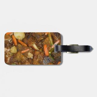 pork carrots potatoes oven baked food design bag tag