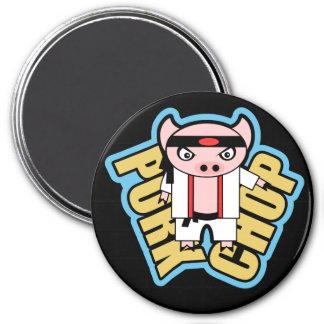 Pork Chop 3 Inch Round Magnet