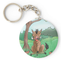 Pork Chop and her apples Keychain