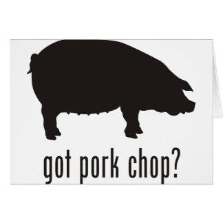 Pork Chop Card