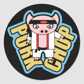 Pork Chop Classic Round Sticker