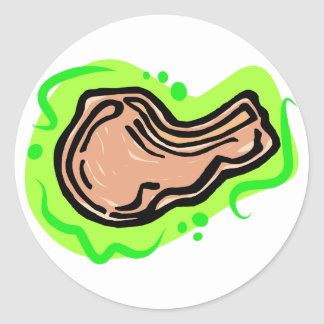 Pork Chop Classic Round Sticker
