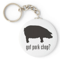 Pork Chop Keychain