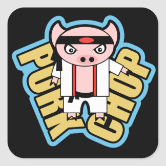 Pork Chop Square Sticker