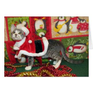 Pork Chop Starring as Santa Claws Greeting Card