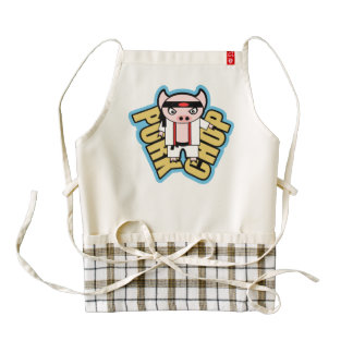 Pork Chop Zazzle HEART Apron