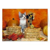 Pork Chop's Fall / Thanksgiving Card