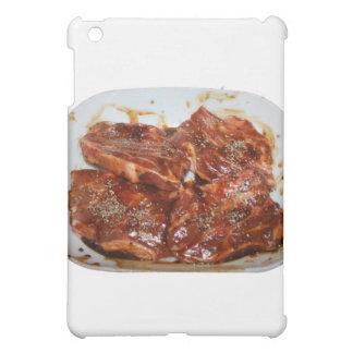 Pork Chops in White Dish Photograph iPad Mini Cases