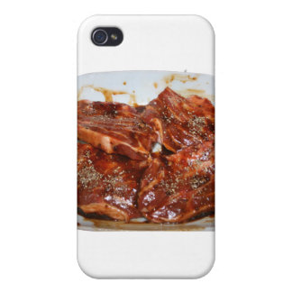 Pork Chops in White Dish Photograph iPhone 4 Cover