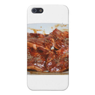 Pork Chops in White Dish Photograph iPhone 5/5S Covers