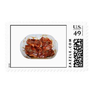 Pork Chops in White Dish Photograph Stamp