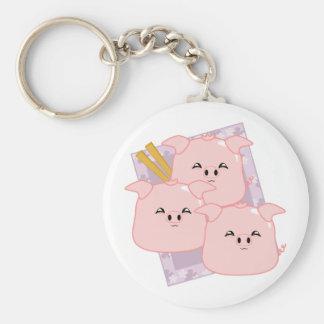 Pork Dumplings Platter Key Chains