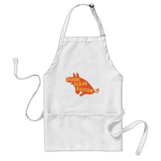 pork ham bacon adult apron