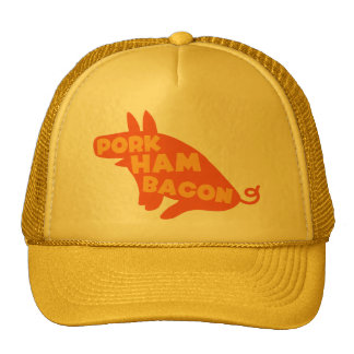 pork ham bacon trucker hat