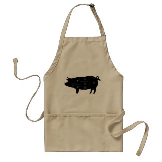 Pork Meat Cuts Butcher Shop Gifts Adult Apron