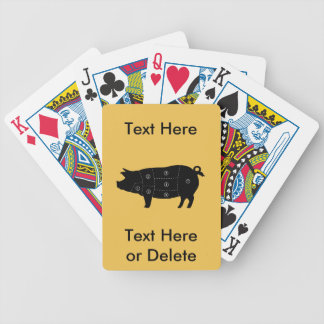 Pork Meat Cuts Butcher Shop Gifts Bicycle Playing Cards