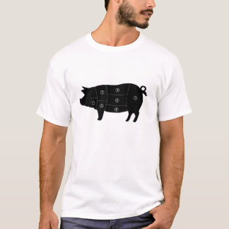 Pork Meat Cuts Butcher Shop Gifts T-Shirt
