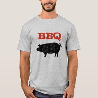 Pork Meat Cuts Butcher T-Shirt