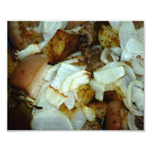 Pork Picnic with Potatoes and Onions 1 Photo Print