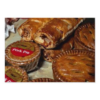 Pork pies and sausage rolls 5x7 paper invitation card