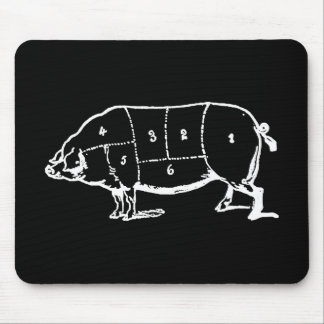 Pork (PIG) Butchers Chart - Bacon Mouse Pad