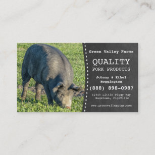 Farm business cards templates zazzle pork producer hog pig farm business card colourmoves