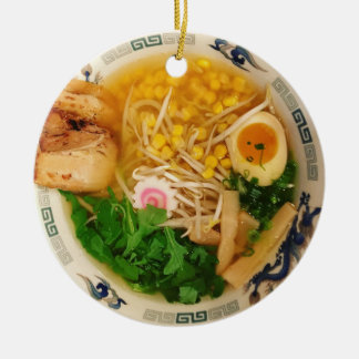 Pork Ramen Noodle Soup Ceramic Ornament
