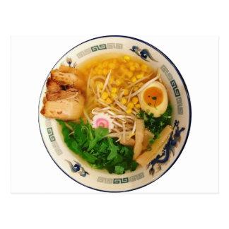 Pork Ramen Noodle Soup Postcard