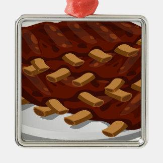 Pork Ribs Metal Ornament