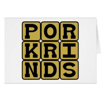 Pork Rinds Pig Snack Card