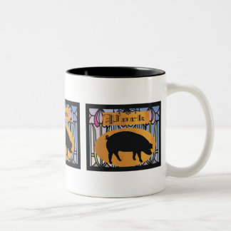 Pork Sign Two-Tone Coffee Mug