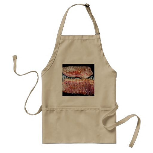 Pork Spare Ribs on the Grill Apron