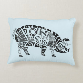 Pork Typogram Decorative Pillow