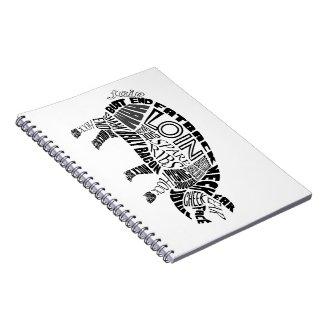 Pork Typogram Spiral Notebook