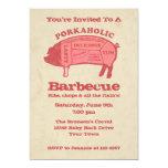 """Porkaholic Barbecue Invitation 5"""" X 7"""" Invitation Card"""