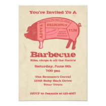 Porkaholic Custom Barbecue Invitation