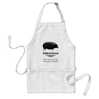 Porkatarian - Give Us Our Daily Bacon Adult Apron