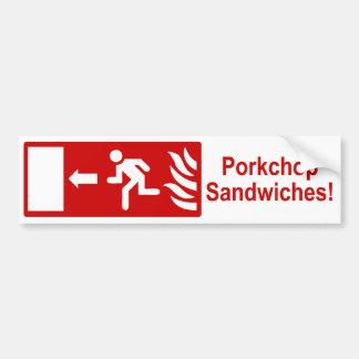 Porkchop intercala a la pegatina para el parachoqu pegatina para auto