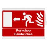 Porkchop Sandwiches Card
