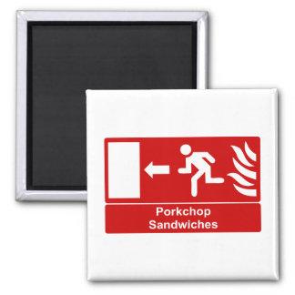 Porkchop Sandwiches Magnet