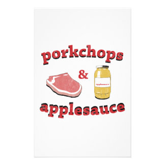 porkchops & applesauce stationery
