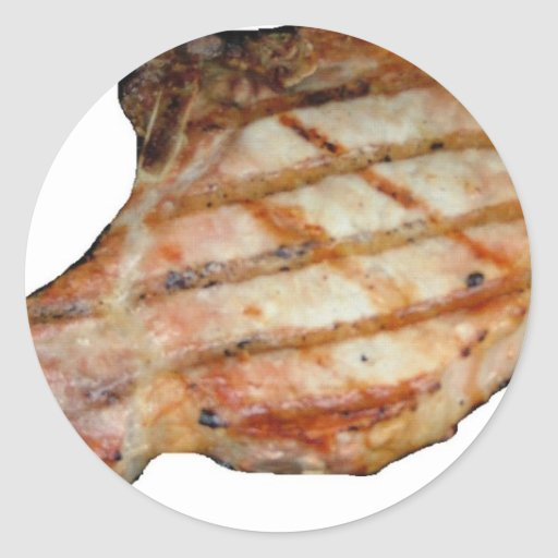 Porkchops Are Delicious Classic Round Sticker